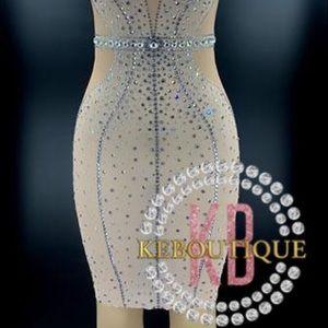 Dresses & Skirts - Mesh Diamanté Dress
